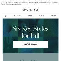 Six Key Styles For Fall