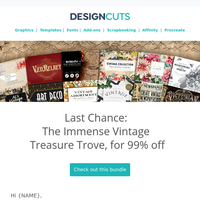 Expiring now: 99% off The Immense Vintage Treasure Trove