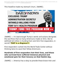 EXCLUSIVE: Trump administration secretly withheld millions from FDNY 9/11 health program