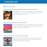 Global Nation: Healers grapple with mental health issues in Fil-Am community; Beware of cruise ship job recruitment scams; Gyms safer than bars, but more study needed