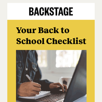 Your Back to School Checklist: Unlimited Casting Calls ✔️ Unlimited Media Uploads ✔️ Expert Advice ✔️