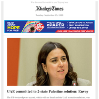 UAE Covid-19 vaccine is safe to use, cleared for health staff; UAE committed to 2-state Palestine solution: Envoy; 4 arrested as UAE authorities go after Covid-19 safety violators