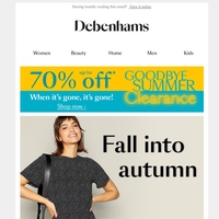 Autumn ready fashion for less