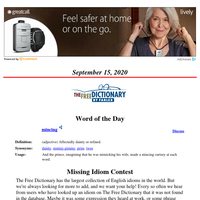 Word of the Day, September 15, 2020