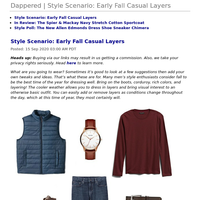 Dappered | Style Scenario: Early Fall Casual Layers