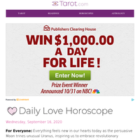 {NAME}'S DAILY LOVE: Wed September 16