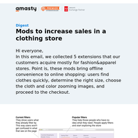 5 mods to increase sales of a fashion store