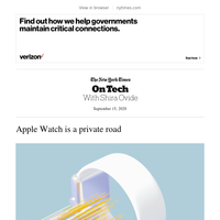 On Tech: Apple Watch is a private road