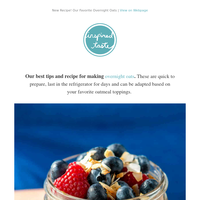 New! Our Favorite Overnight Oats