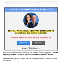 Please correct: {NAME}, does NOT support Kamala Harris?