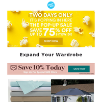 Want Up To 75% Off?