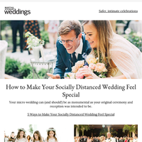 5 Ways to Make Your Socially Distanced Wedding Feel Special