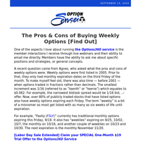 The Pros & Cons of Buying Weekly Options [Find Out]