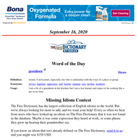 Word of the Day, September 16, 2020