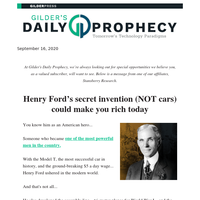 Henry Ford's secret invention (NOT cars) could make you rich today