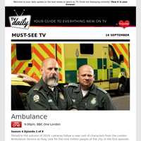 Don't miss: Ambulance at 9:00pm on BBC One London