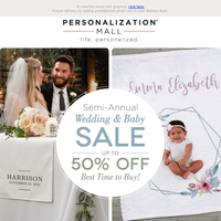 Get Half-Off These Wedding & Baby Gifts!