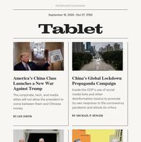 Bibi at the White House; China's Pandemic Propaganda; America's China Defenders; Race and Heterodoxy; Rosh Hashanah on the Beach
