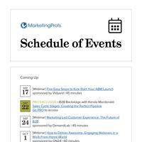 Upcoming Events at MarketingProfs
