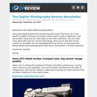 Digital Photography Review Newsletter: Wednesday, September 16, 2020