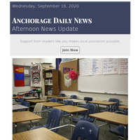Anchorage School District plans to bring kids back to in-person classes in phases starting Oct. 19