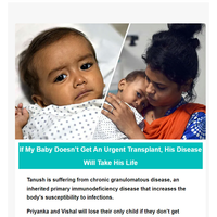 {EMAIL}, If my baby doesn't get an urgent_transplant, his disease will take his life