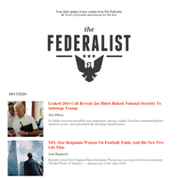 The Federalist Daily Briefing for 09/17/2020