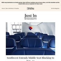Southwest Extends Middle Seat Blocking