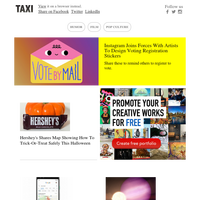 Instagram rolls out creative stickers to remind users to vote; Hershey's maps out how to trick-or-treat safely this Halloween; Google brings Maps to shopping tool to save hassle of browsing IRL; NASA spots first-ever 'survivor' planet orbiting sun