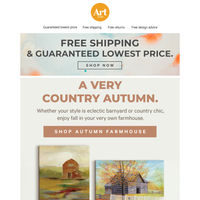 🌾 🖼️🍂Make your home country strong for fall. Free shipping. Free returns. Free creative advice. 🌾 🖼️🍂