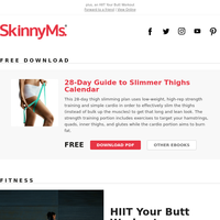 Free Download: 28-Day Guide to Slimmer Thighs Calendar