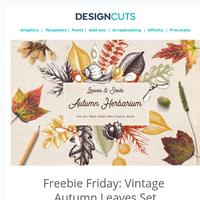 Freebie Friday: Vintage Autumn Leaves Set
