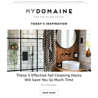 5 fall cleaning hacks that'll save you so much time