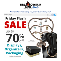 Going FAST: Friday Flash Sale on Bead Organizers and Displays
