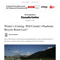 Canada Letter: Cycling is all the rage but for how long?