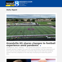 Grandville HS shares changes to football experience amid pandemic (19 September 2020, for {EMAIL})