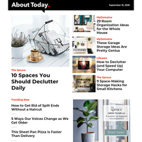 10 Spaces You Should Declutter Daily