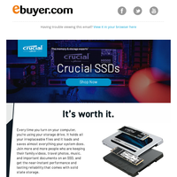 Crucial SSDs – Up to 2TB storage!