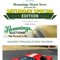 If you want/need Cars, Parts, or even a Property Hemmings has it all!