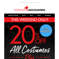 🎃 20% Off All Costumes + FREE Gift!