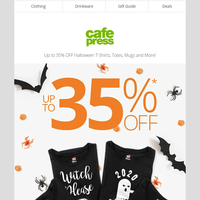 Spooky SALE: Save up to 35% off spooktacular gifts and more!