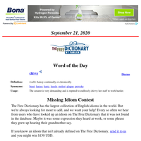 Word of the Day, September 21, 2020