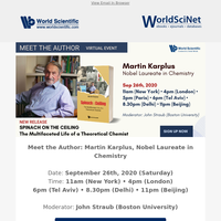 Join us at Live Virtual Event: Meet the Author: Martin Karplus, Nobel Laureate in Chemistry
