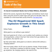 Trade of the Day: The EV Megatrend Will Spark Explosive Growth in This Small Stock