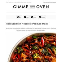 New Post: Thai Drunken Noodles (Pad Kee Mao)