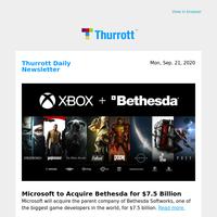 Microsoft to Acquire Bethesda for $7.5 Billion