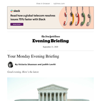 Your Monday Evening Briefing