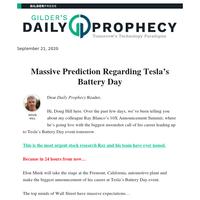 10X Announcement Summit: Massive Prediction Regarding Tesla's Battery Day