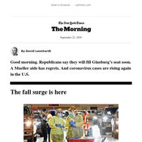 Tuesday Morning: The fall surge is here