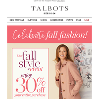 Fall Fashion Forever! Celebrate your style.